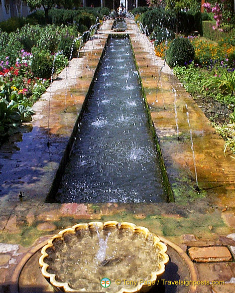 Palace of the Generalife: The Patio de la Acequia of the Main Canal Court