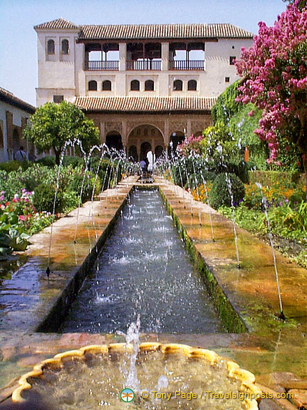 Palace of the Generalife: Court of the Main Canal with its Patio de la Acequia