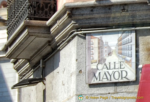 Calle Mayor colourful street sign