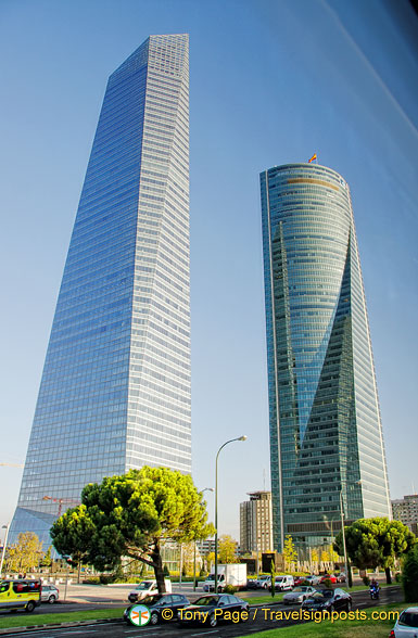 Madrid's modern high rise towers