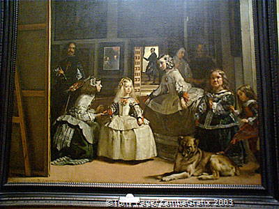 Las Meninas (1656) - Velazquez's painting of Infanta Margarita and her courtiers - in the Prado