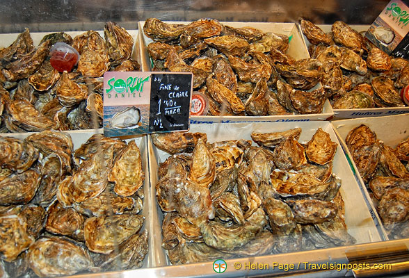Fine de Claire oysters at Euro 1.4 each