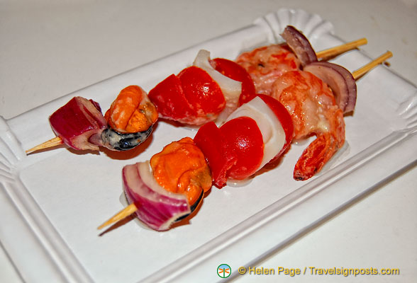 Our seafood brochette - very tasty