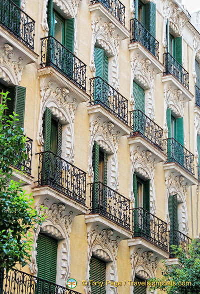 Beautiful balconies in San Miguel