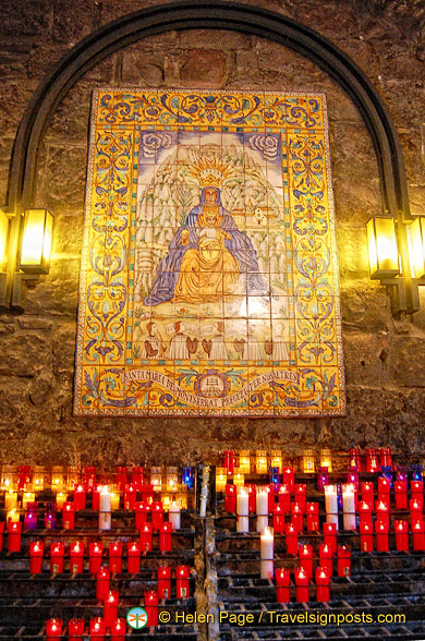 This is where candle offerings are made after visiting the Black Madonna