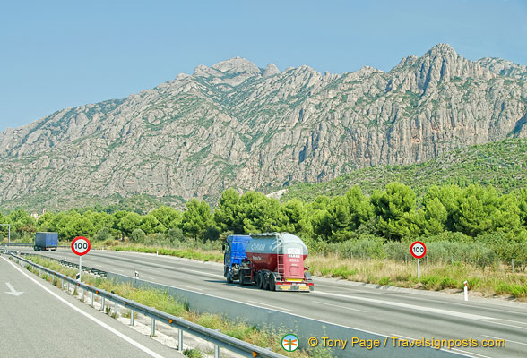 On the road from Montserrat back to Barcelona