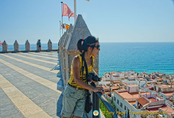 Enjoying the views from Peñíscola Castle