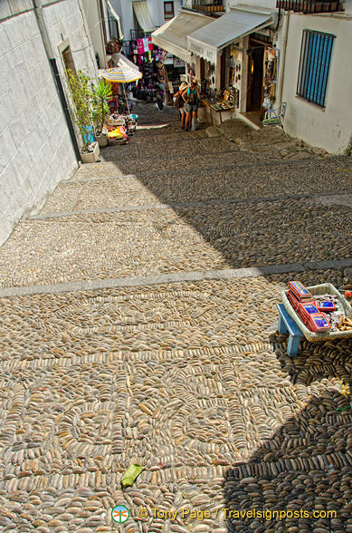 Cobbled street of Peñíscola Old Town