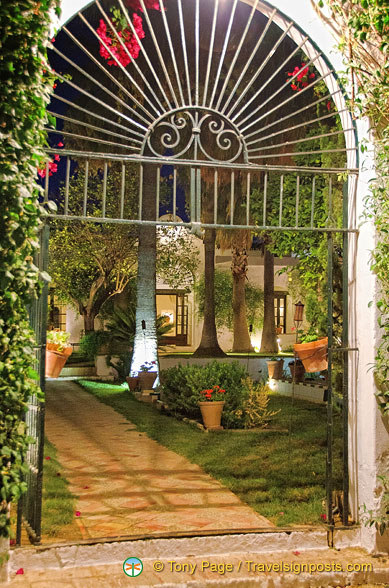 Beautiful cast-iron gate of the Hacienda