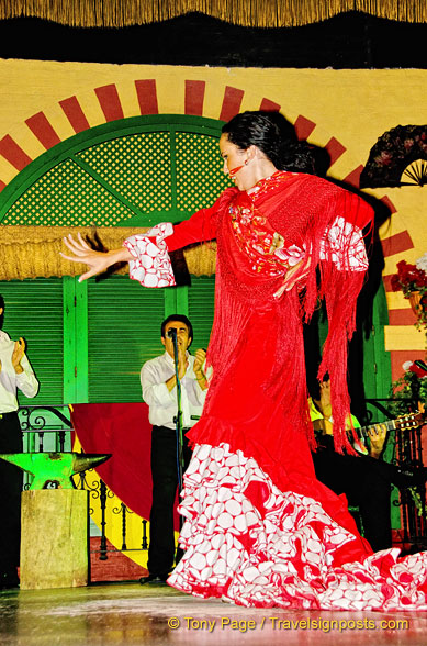 A solo flamenco dance routine