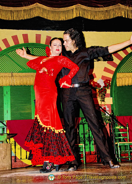 The stars flamenco dancers at Palacio Andaluz