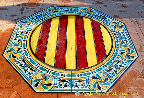 Tiles showing the colours of Spain