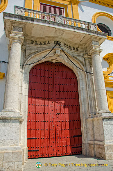 Red gate of the Plaza de Toros