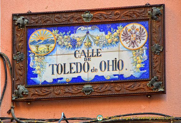 Calle de Toledo de Ohio - Toledo has been twin city with Toledo Ohio since 1931.
