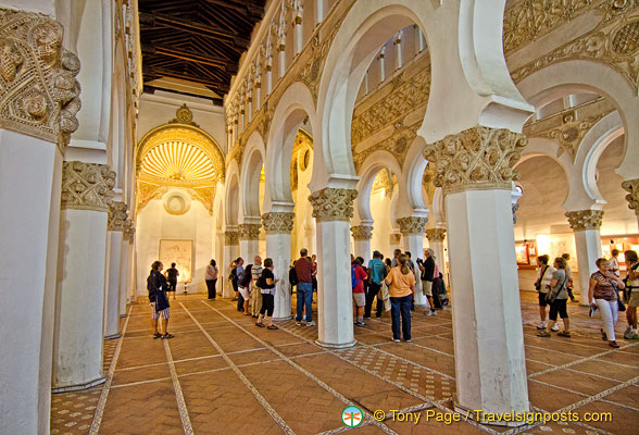 The beautiful interior of the Santa Maria la Blanca