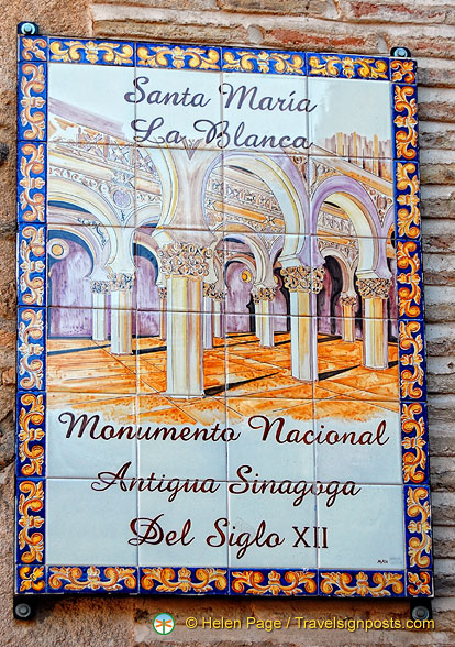 Santa Maria la Blanca - the oldest and largest of Toledo's synagogues