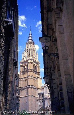 Sneak view of Toledo Cathedral Tower
