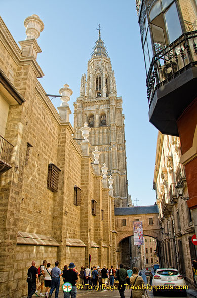 View of the bell tower of Toledo Cathedral
