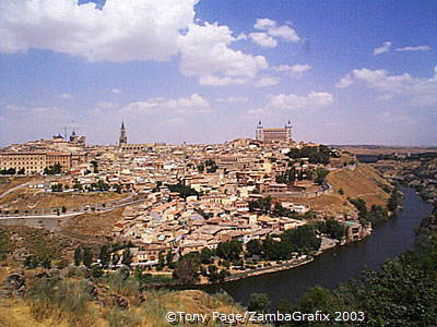 Toledo city from across the River Tagus