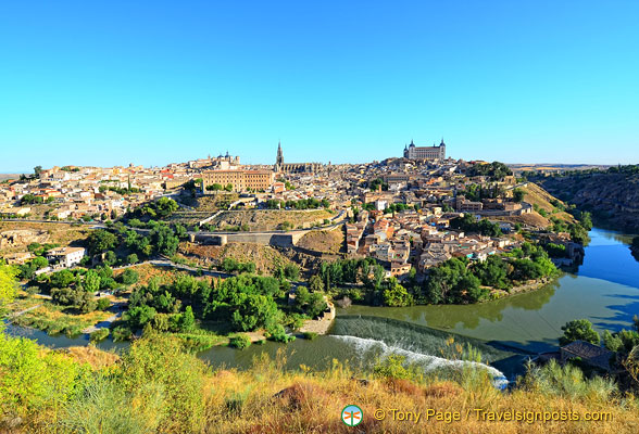 A view of Toledo from across the River Tagus