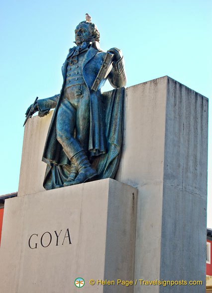 The Goya Monument:  Goya is poised to paint the scene below him