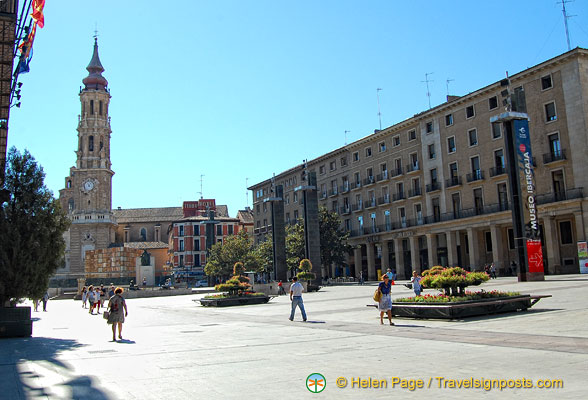View down eastern end of Plaza del Pilar