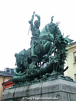 St George and the Dragon, Old Town, Stockholm