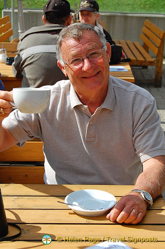 Jim discovered the coffee shop at the sailing club
