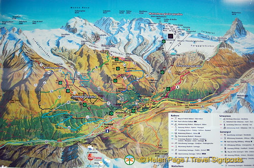 Map of the Alps