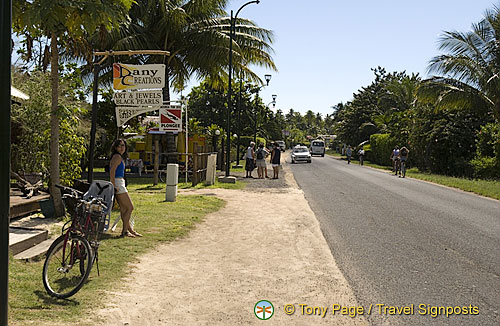 There's just one main road running round Moorea, Tahiti