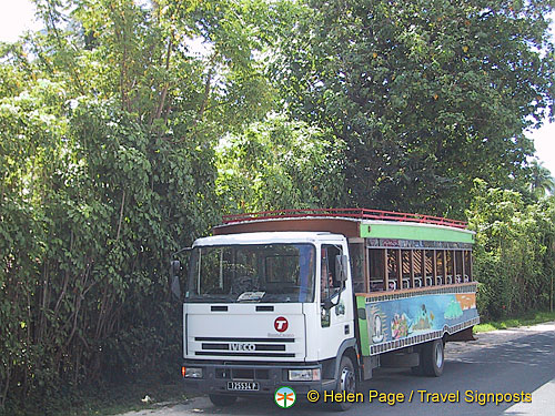 This is the Moorea public transport