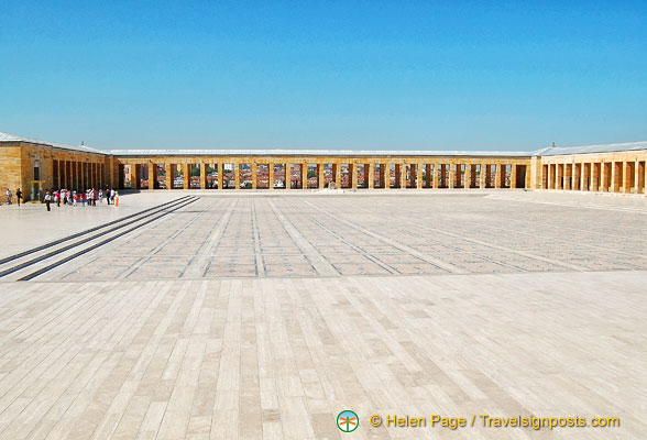 Ceremonial courtyard of Anitkabir