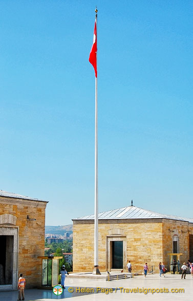A limp Turkish flag
