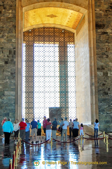 The Hall of Honour where Atatürk's tomb is