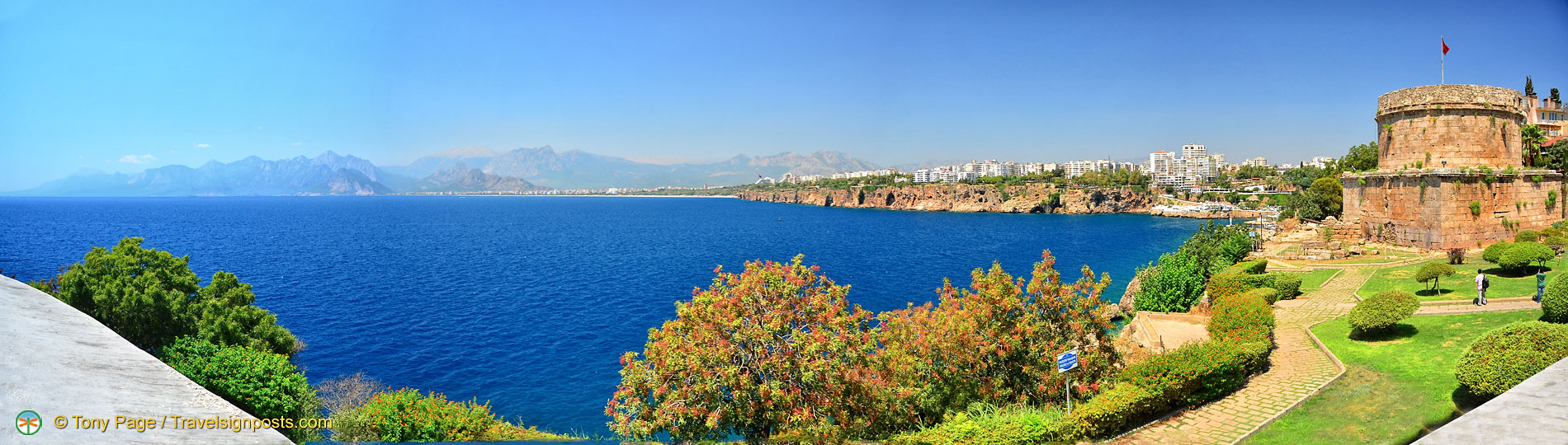 A panorama of Antalya coastline