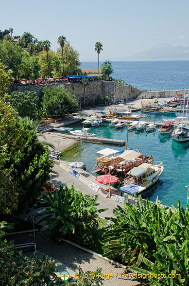 View of Antalya Yacht Harbour
