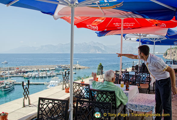 Panoramic view from the Gizli Bahçe restaurant