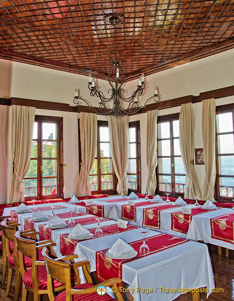 Elegant setting of the Sultan Hanim Mansion restaurant