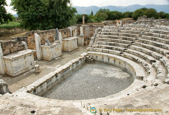 The well-preserved Aphrodisias Odeon