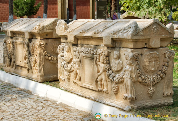 Sculptured sarcophagi