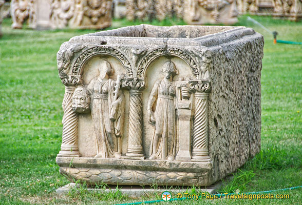 Decorated sarcophagus at Aphrodisias