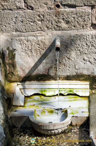 Spring water at Asklepieion