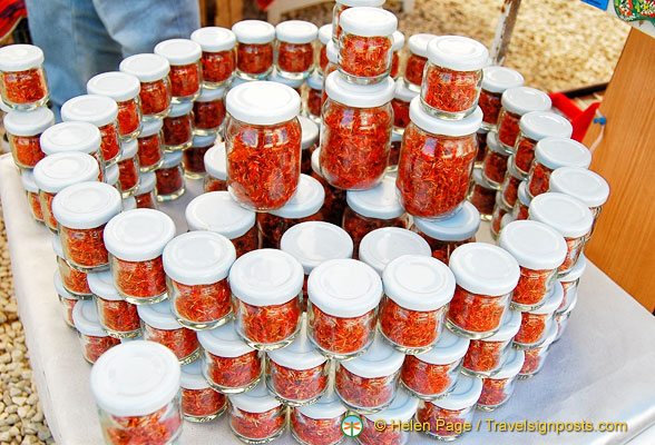 Jars of saffron which this region seem to have quantities of