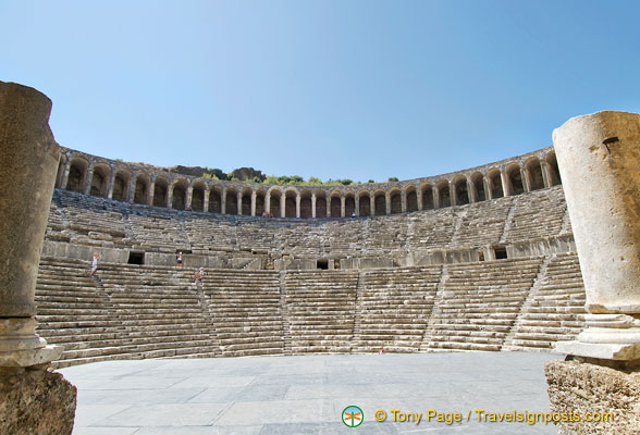 View of Aspendos Theatre