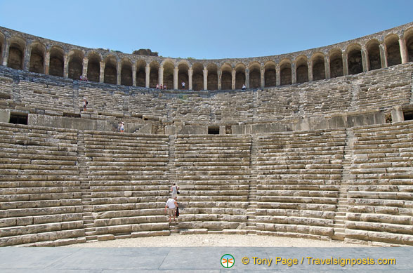 There are 41 rows of seats in the Aspendos Theatre