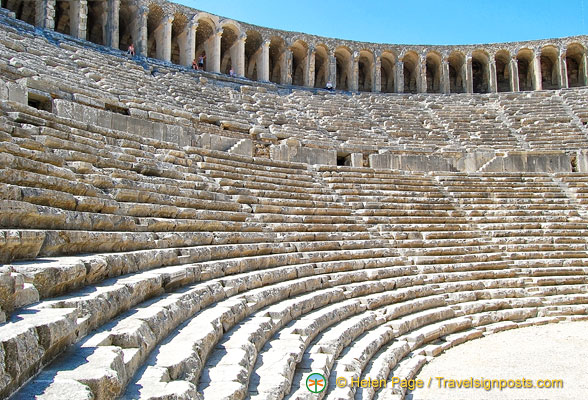 Aspendos Theatre was dedicated to the gods and emperors