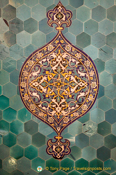 Decorative tiles in the Green Tomb