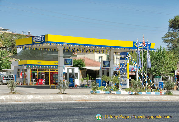 Petrol station opposite the Camlik Train Museum