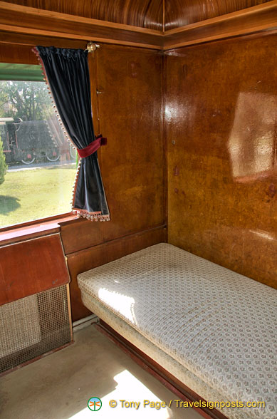 Wood-panelled room of Atatürk's car
