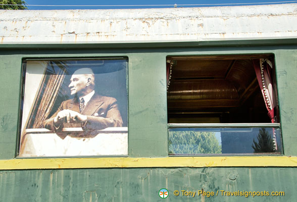 Atatürk was a keen train traveller